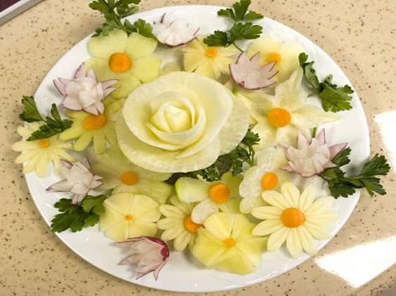 Как порезать красиво овощи
