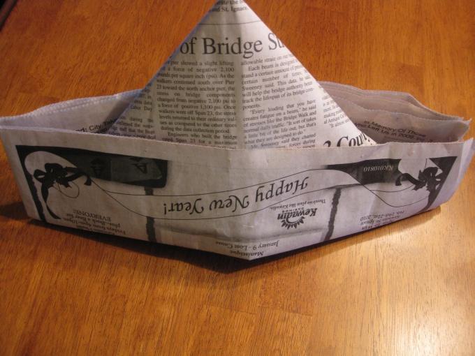 Как сделать шляпу из газеты