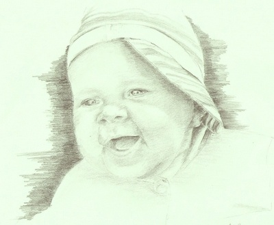 Как нарисовать младенца