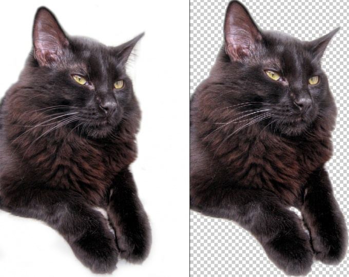 How to make a white background transparent