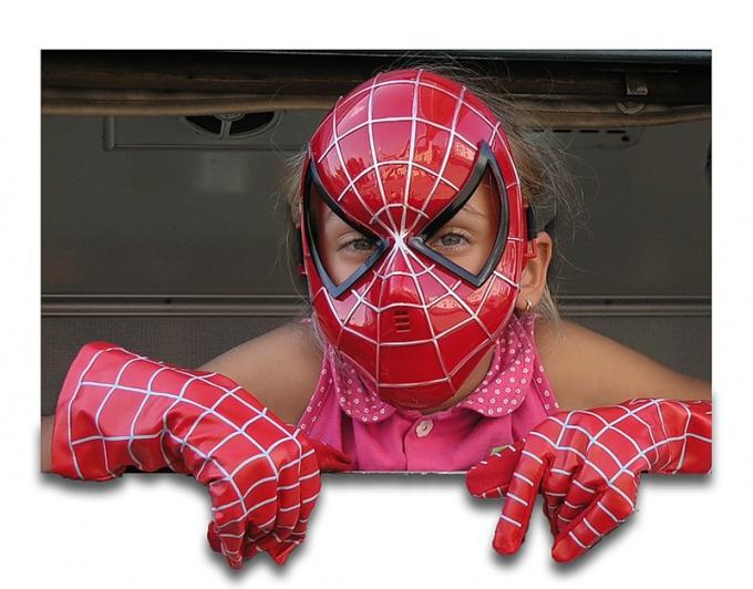 Как сделать маску паука