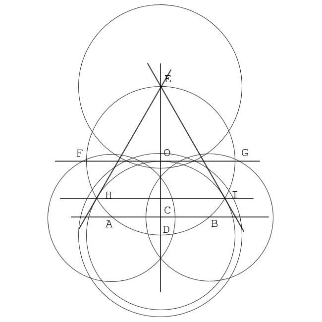 Как вписать равносторонний треугольник в окружность