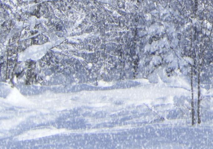 Как сделать снег на фотографии в Photoshop