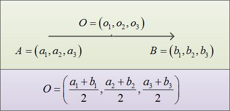 Как найти середину вектора