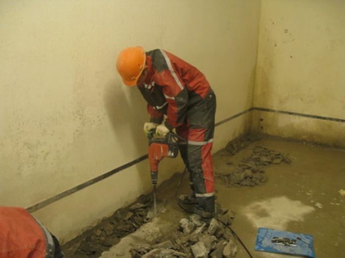 Как снять бетон