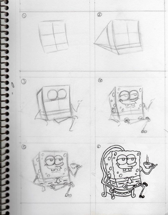 Как рисовать героев из мультиков