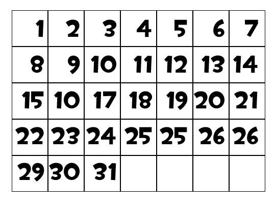 Как создать календарную сетку в Photoshop