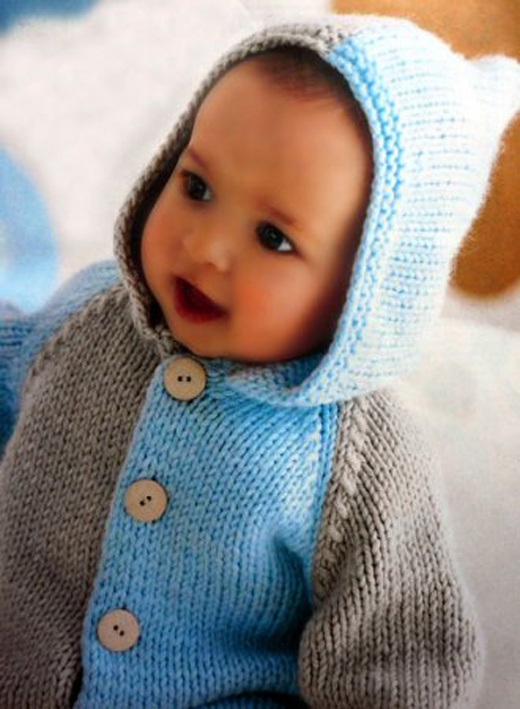 How to knit a children's sweater knitting