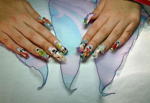 Как нарисовать картинку на ногтях