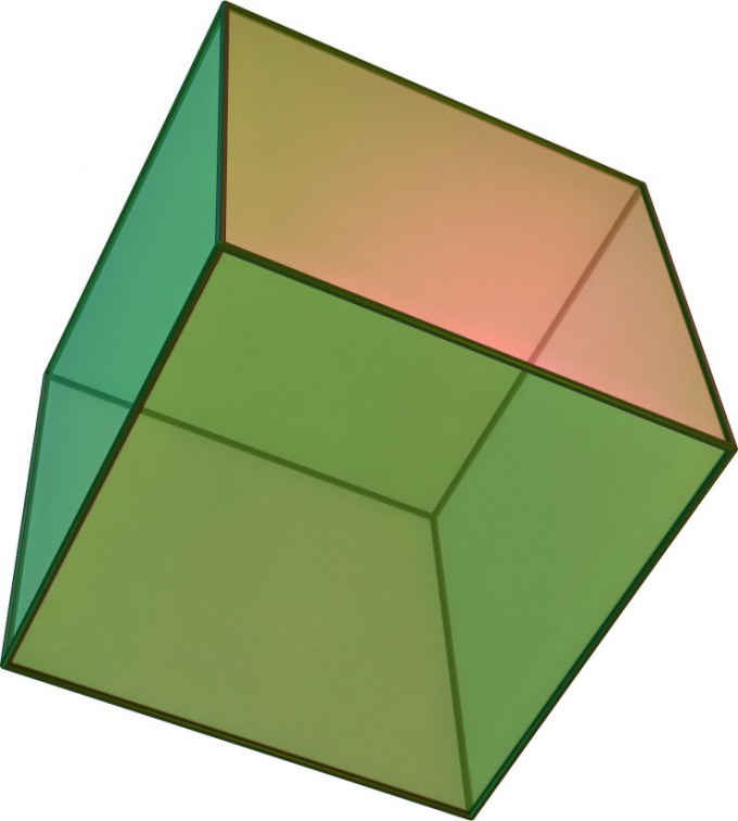How to calculate the area of a cube