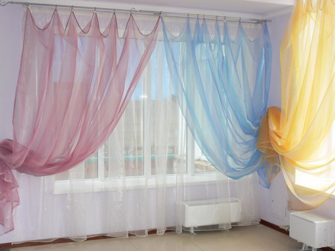 How to wash curtains organza