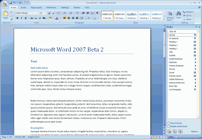 How to make a header in word