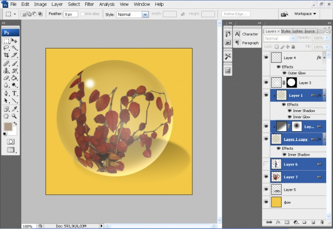How to separate the layers