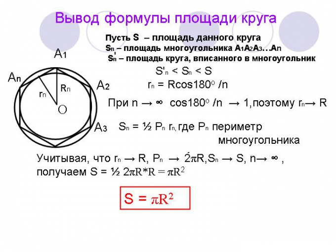 Как посчитать площадь фигуры