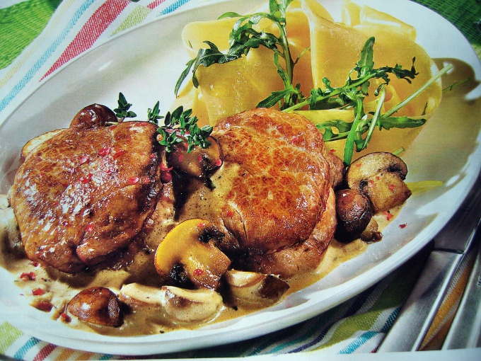 How to cook meat with mushrooms