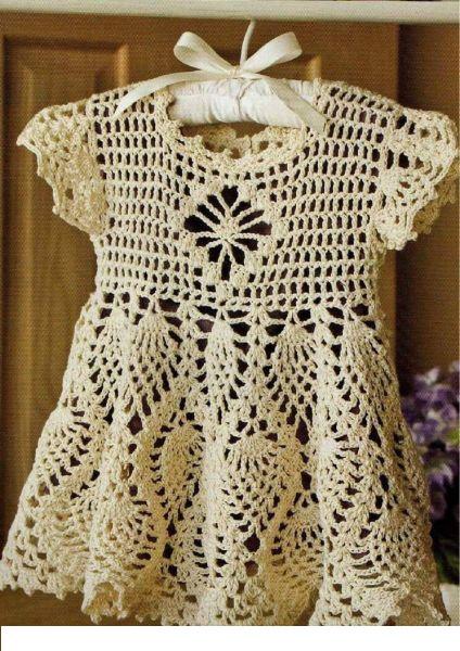 Как связать детское платье крючком
