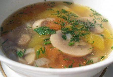 Как сварить грибной суп с молодым картофелем и клецками