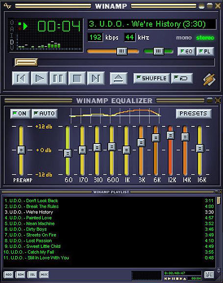 How to set equalizer Winamp