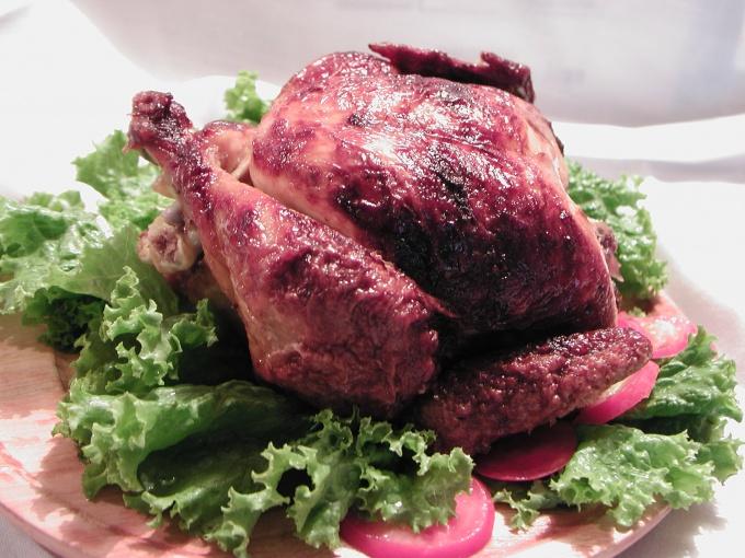 Как приготовить праздничную курицу