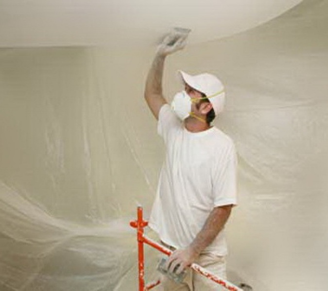 How to remove adhesive from the ceiling