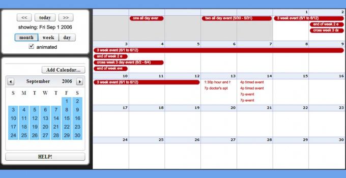 Как поставить на свой сайт календарь