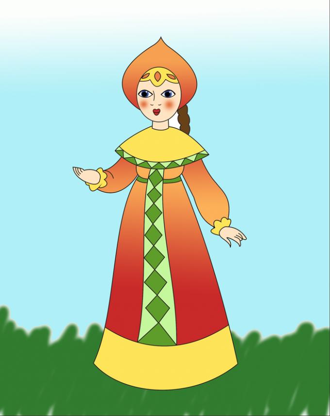 Как нарисовать царевну