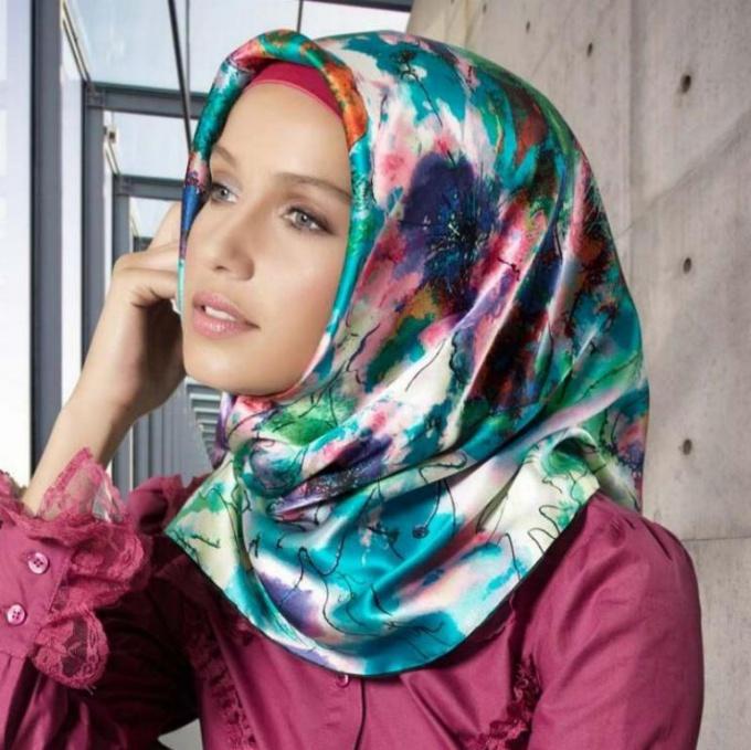 Как повязать мусульманский платок