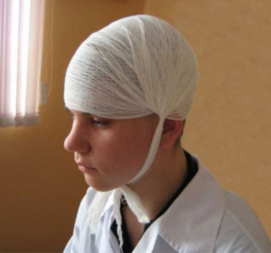 Как накладывать повязки на голову