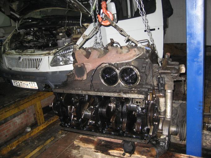 Как снять двигатель с ГАЗели