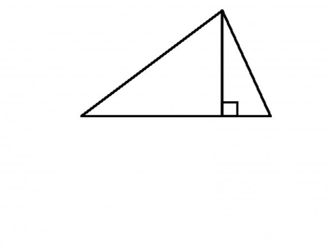 Как построить высоту с помощью циркуля