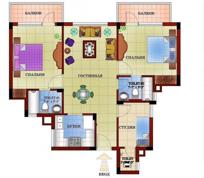 Как нарисовать план помещения