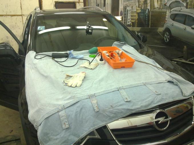 Как убрать сколы на авто