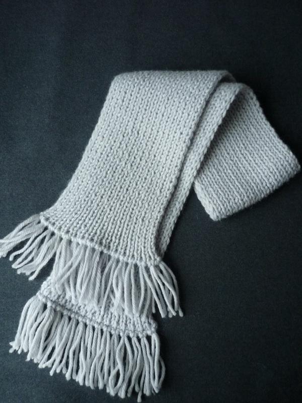 Как обработать край шарфа