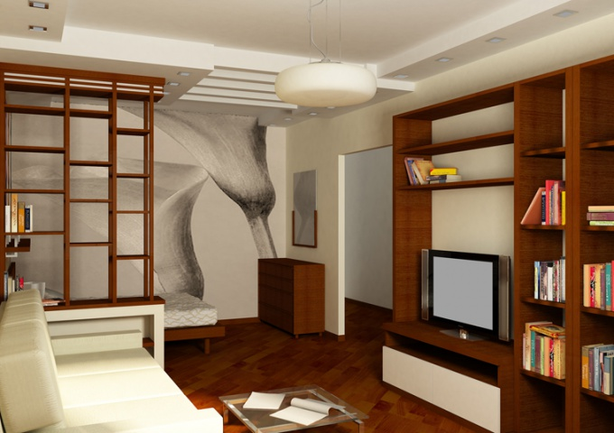 Как сделать спальню в однокомнатной квартире