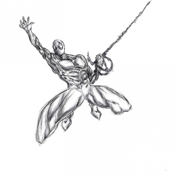 Как рисовать супергероев из человека паука