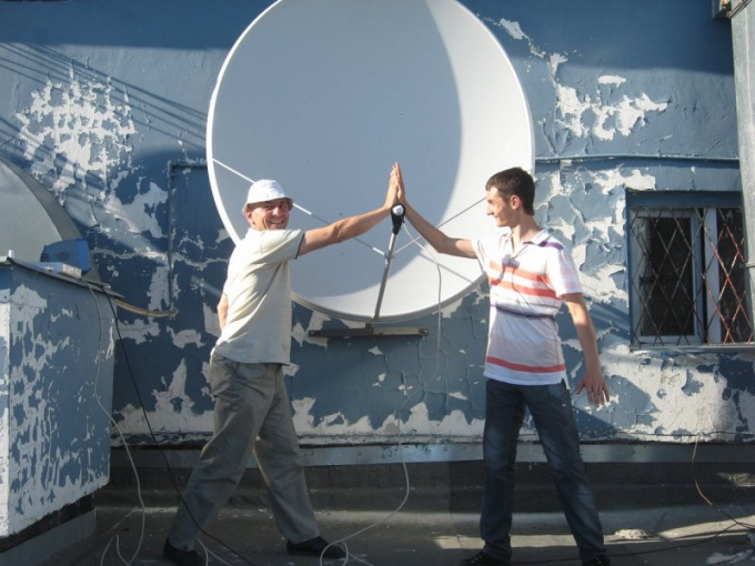 How to set Chinese satellite dish