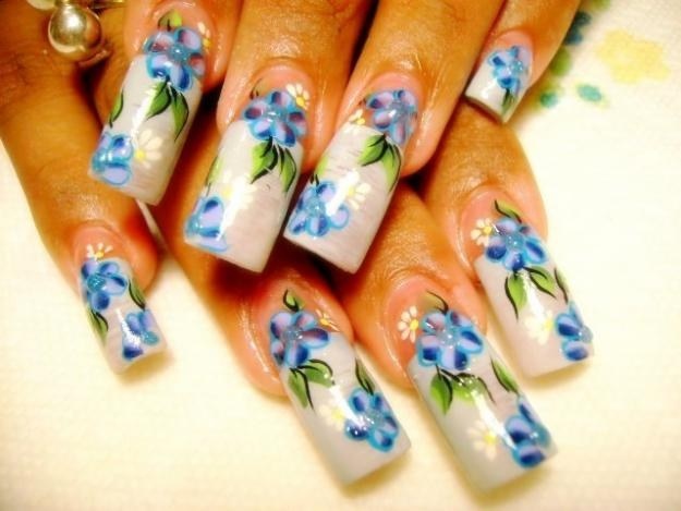 How to draw on the nails drawings photo