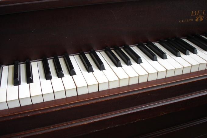 Как настроить гитару по пианино