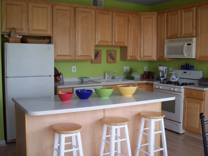 How to attach kitchen counter tops