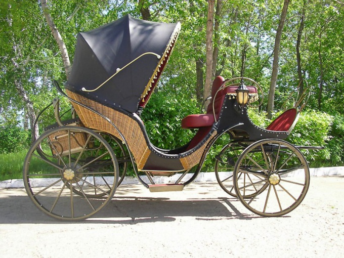 How to make a carriage out of wood
