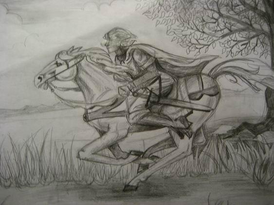 Как рисовать всадника