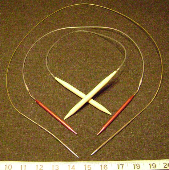 Как набирать петли на круговые спицы