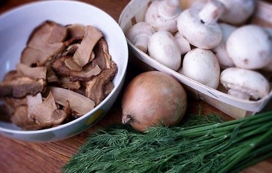 How to boil frozen mushrooms
