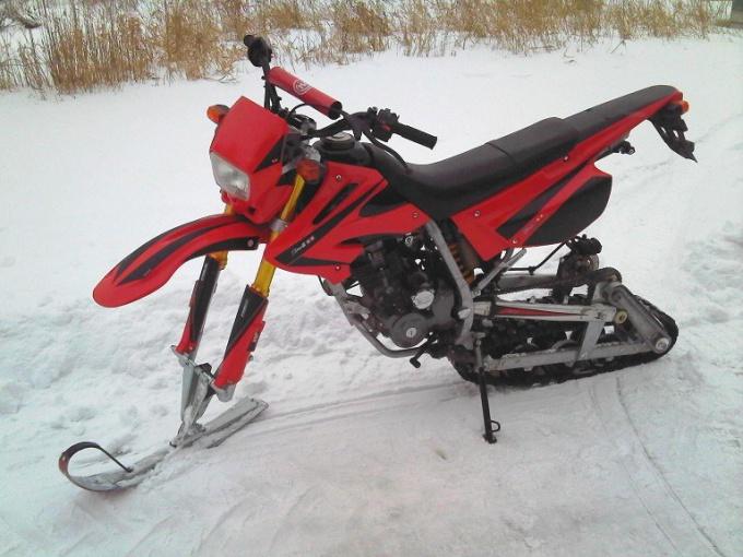 Зимний мотоцикл своими руками 28