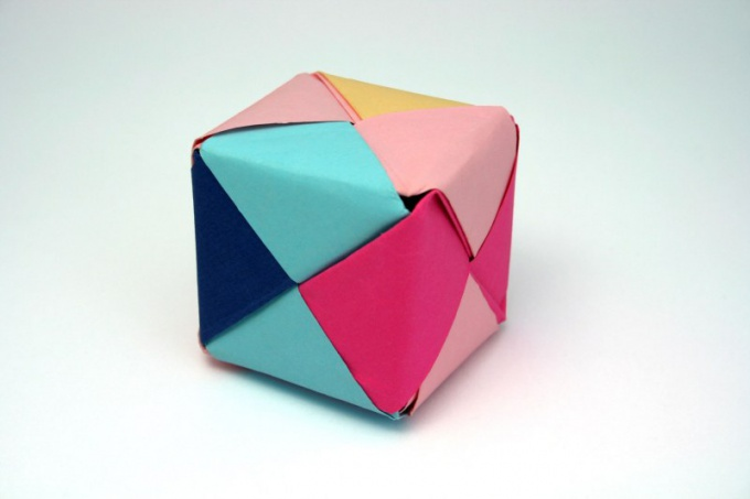 Как сложить куб
