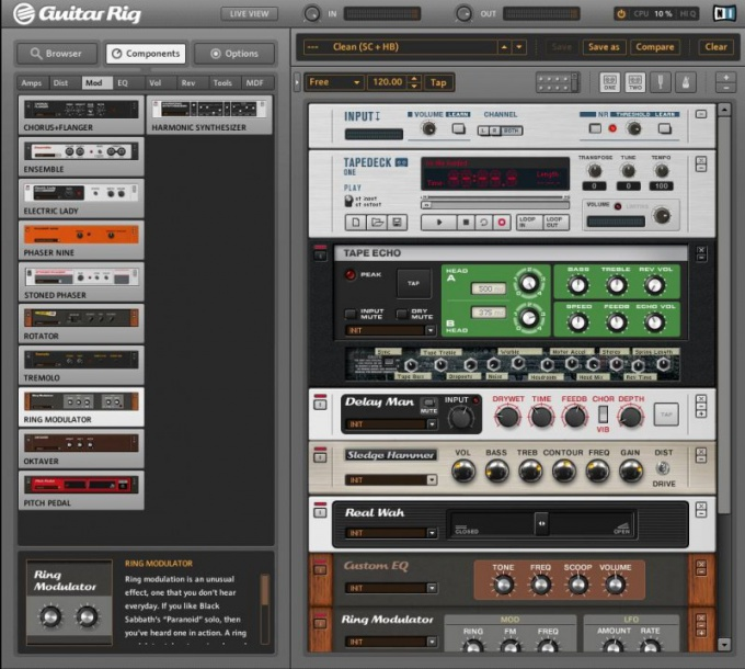 How to set guitar rig