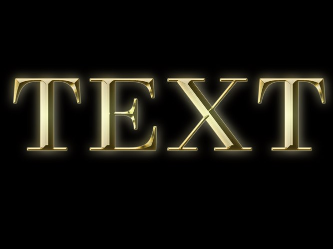 How to make gold font