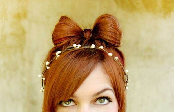 How to make a bow of hair
