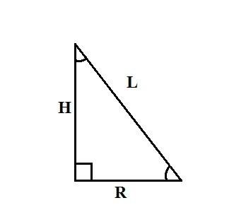 Как обнаружить радиус основания конуса