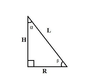 Как найти радиус основания конуса